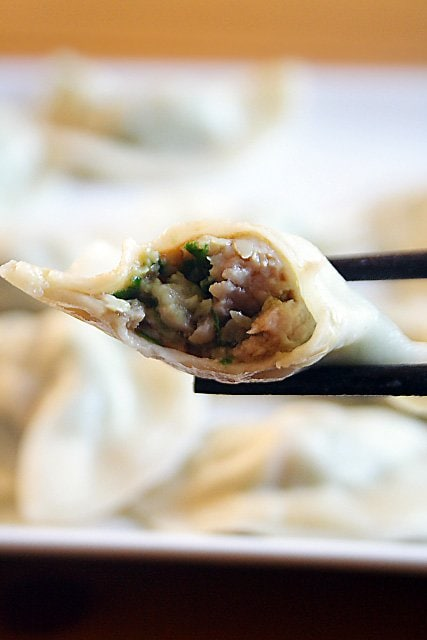 Chinese Jiaozi Recipe (Pork And Chive Dumplings) Recipe — Dishmaps
