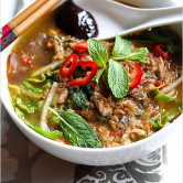 Nyonya Hot and Sour Noodles in Fish Soup