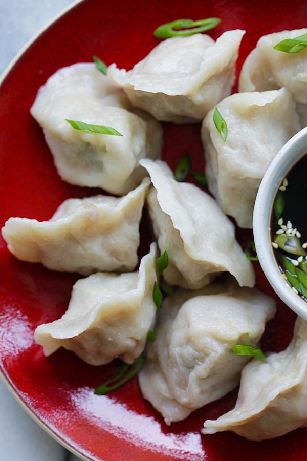 Pork and Chive Dumplings | Easy Delicious Recipes