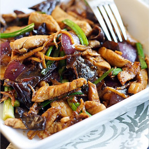 Ginger and Black Fungus Chicken