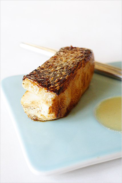 Miso-Marinated Sea Bass recipe - I love Chilean sea bass–the flesh is always so moist, tender, silky, and sweet. I also love the texture and the mouth feel of Chilean sea bass…it's absolutely perfect for this miso recipe. | rasamalaysia.com