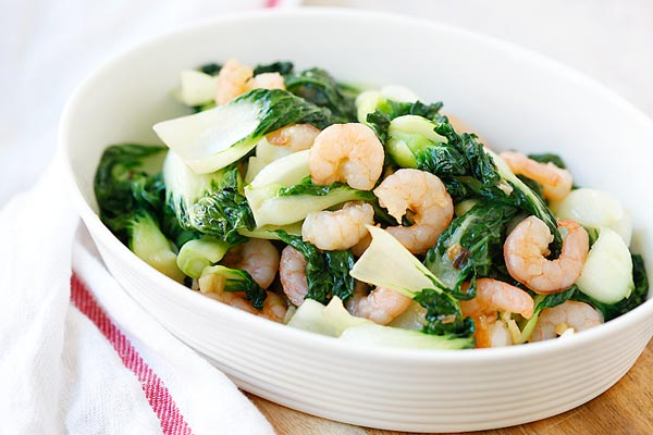 Choy with Shrimp – healthy and delicious baby bok choy stir fried ...