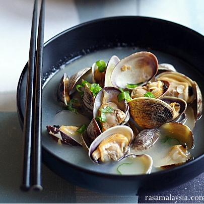 Steamed Asari (Manila) Clam Recipe