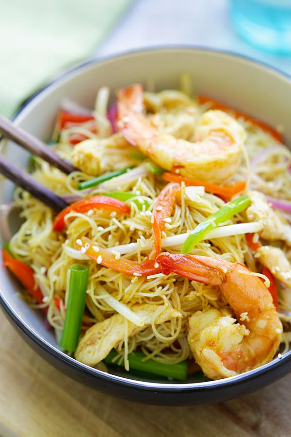 Singapore Noodles | Easy Delicious Recipes