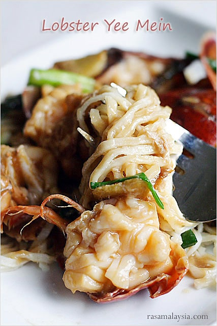 Lobster Yee Mein (Lobster Noodles) - Rasa Malaysia