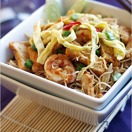 Mee Siam (Spicy Rice Vermicelli) Recipe | Easy Delicious ...