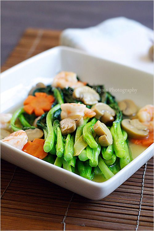 Chinese vegetables choy sum easy delicious recipes rasa malaysia in chinese or cantonese restaurants chinese vegetables choy sum are often served two forumfinder