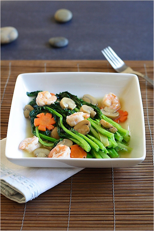 how to cook choy sum with oyster sauce