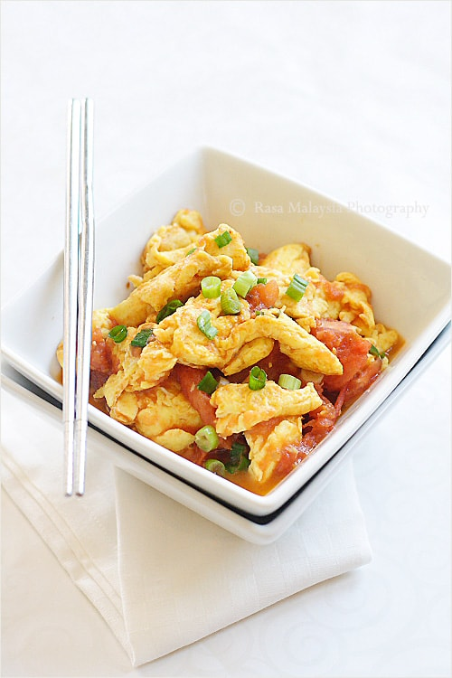 Tomato Eggs - the easiest and yummiest eggs ever. Takes 10 minutes, get the recipe now   rasamalaysia.com