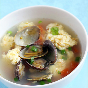 Egg Drop Soup with Clams
