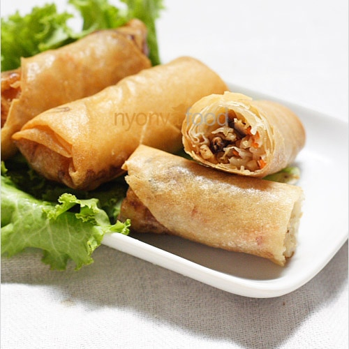 Spring Rolls Recipe (Fried Popiah Recipe)