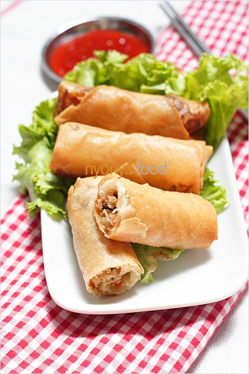 Spring Rolls Recipe (Fried Popiah Recipe) | Easy Delicious Recipes: Rasa Malaysia | rasamalaysia.com