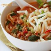 Nyonya Noodles with Fish Broth