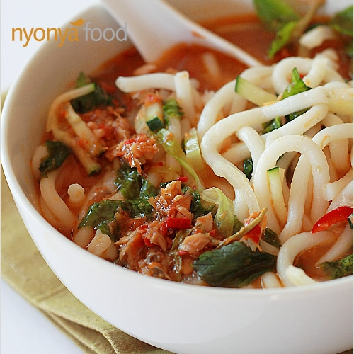 Nyonya Noodles With Fish Broth Assam Laksa Rasa Malaysia