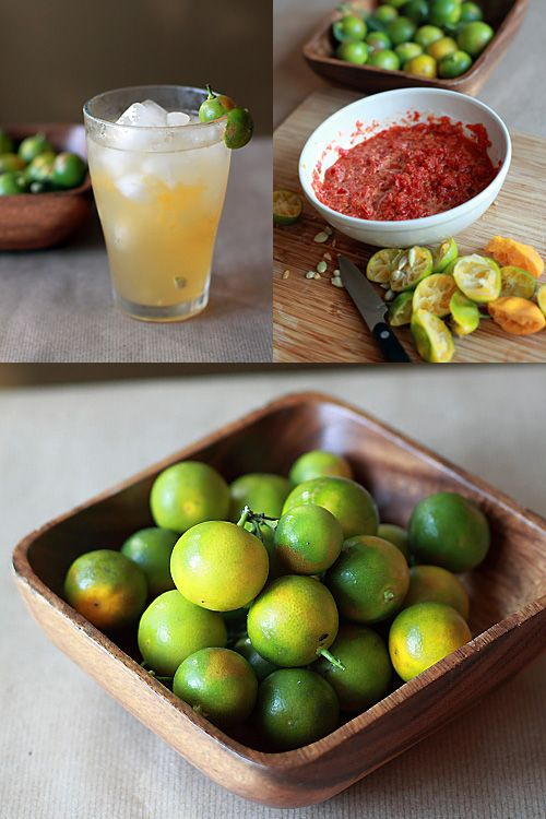 Calamansi - When I found these at a local supermarket, I rushed home immediately and made myself a glass of calamansi juice with ice, just like the way it's served back home in Malaysia. | rasamalaysia.com