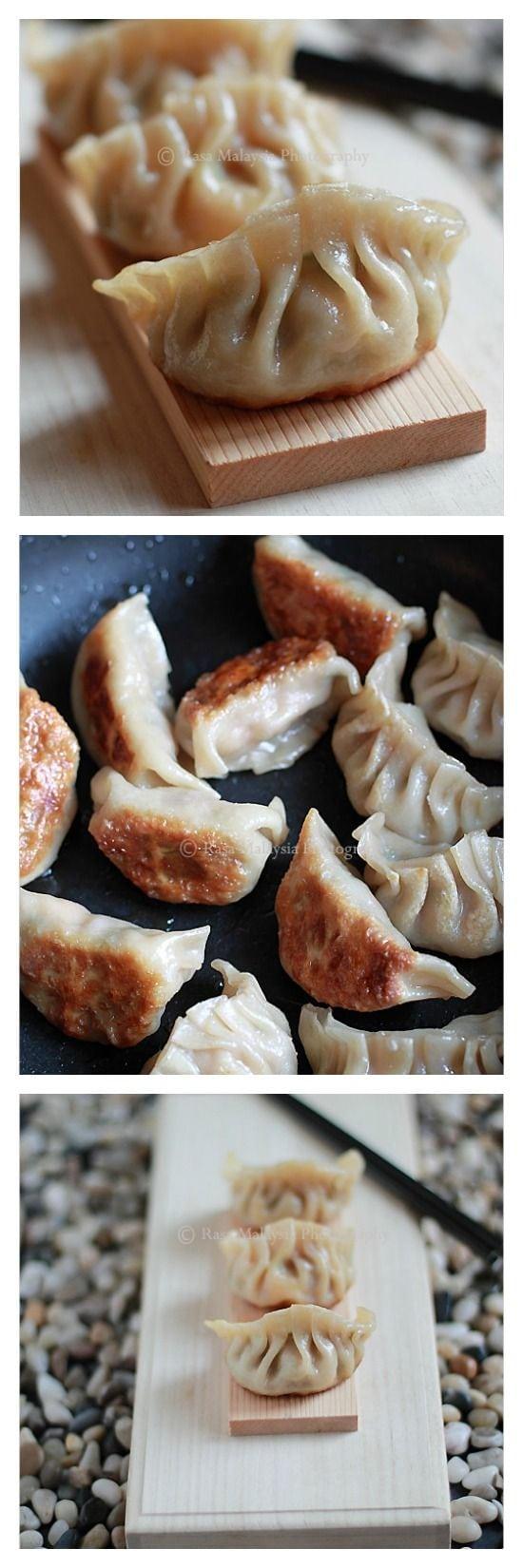 Gyoza Japanese Gyoza Recipe Rasa Malaysia