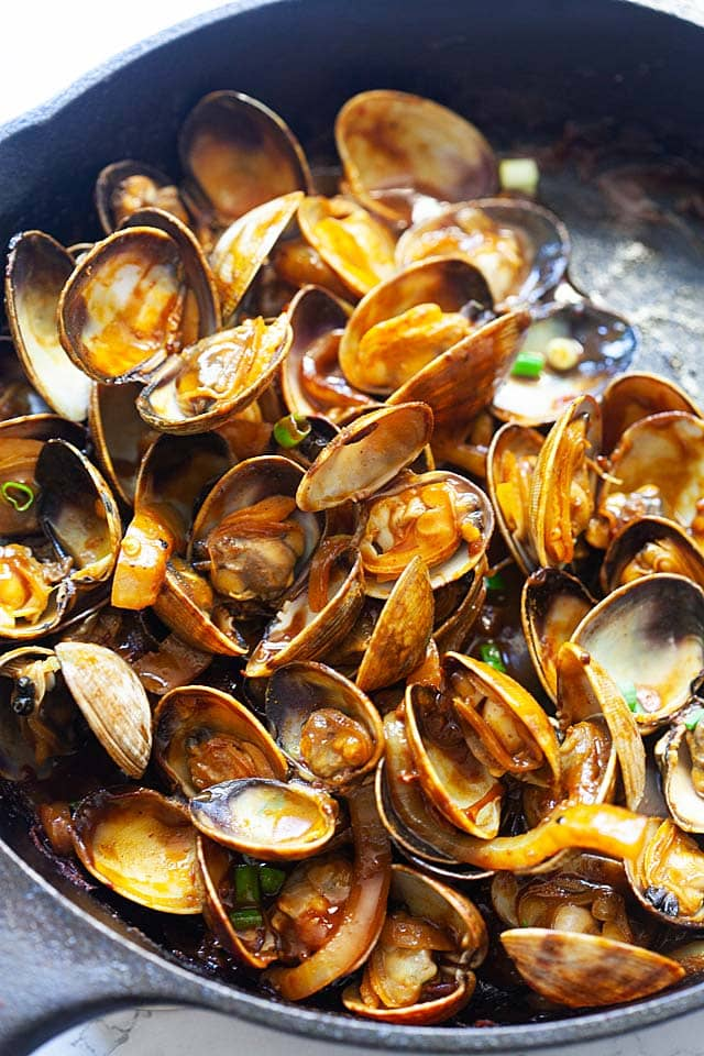 Malaysian curry clams.