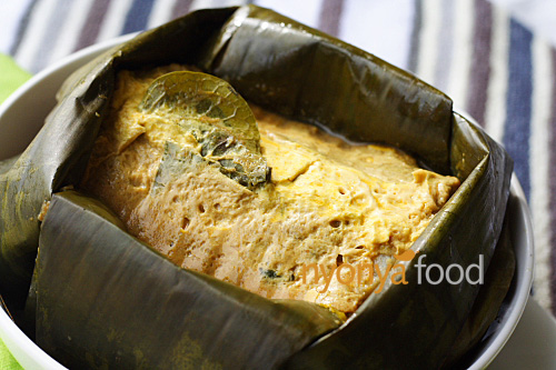 Otak-Otak (Nyonya Fish Custard Wrapped with Banana Leaves) | Easy Asian Recipes at RasaMalaysia.com | rasamalaysia.com