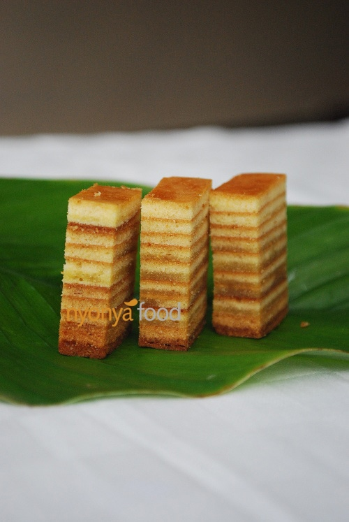 Kek Lapis is a very unique cake where spices are added in to give the sweet aroma smell. It is a very rich cake with very high contents of eggs and butter. Therefore, it is usually served in very small pieces.   rasamalaysia.com