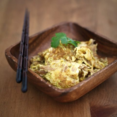 Fried Eggs with Preserved Turnip
