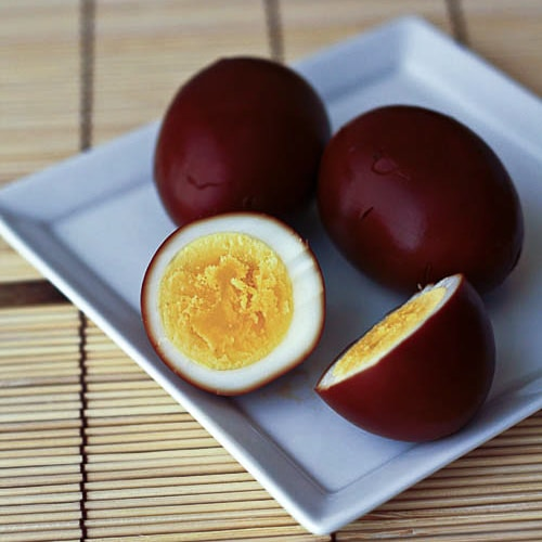 Soy Sauce Eggs (Shoyu Tamago) – These are beautiful and are made with only eggs and soy sauce! | rasamalaysia.com