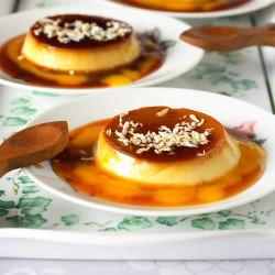 Mango and Coconut Crème Caramel