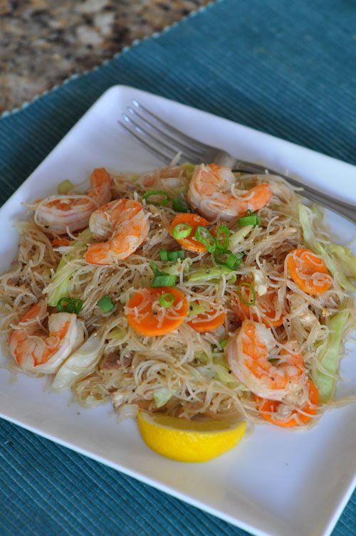 Pancit Pancit Bihon Filipino Rice Noodles Rasa Malaysia