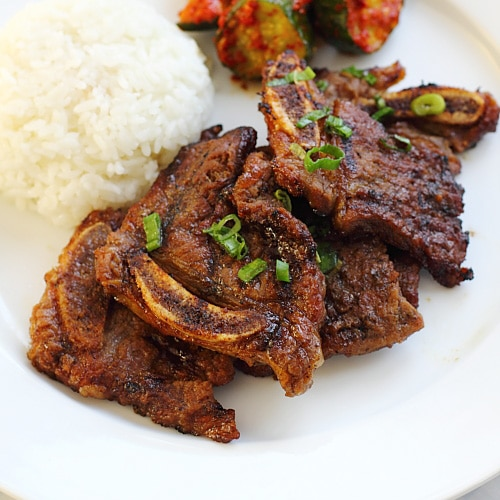 Korean Kalbi (Korean BBQ Beef Short Ribs)