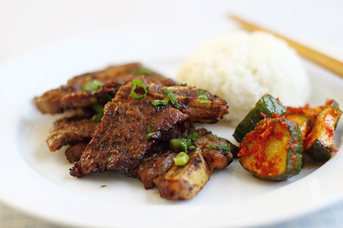 Kalbi (Korean BBQ Beef Short Ribs). Recipe at rasamalaysia.com. | rasamalaysia.com