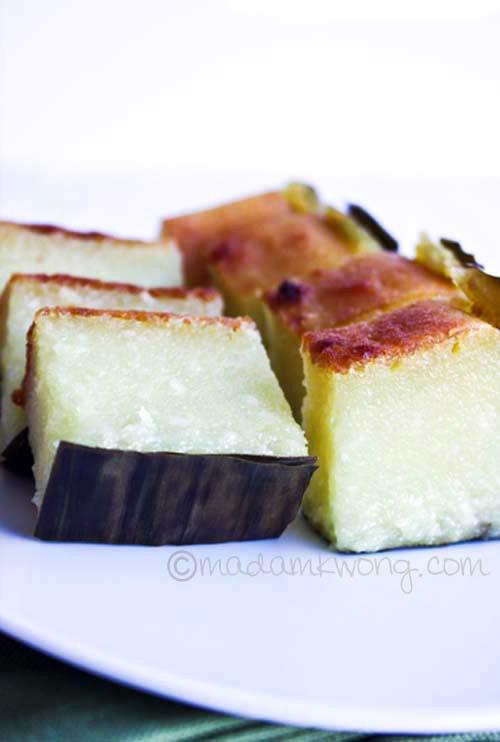 Kuih Bengka (Tapioca/Cassava Cake) | rasamalaysia.com