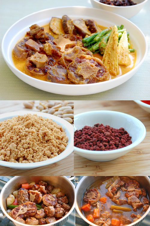 Filipino Kare Kare (Ox Tail and Peanut Stew)   rasamalaysia.com