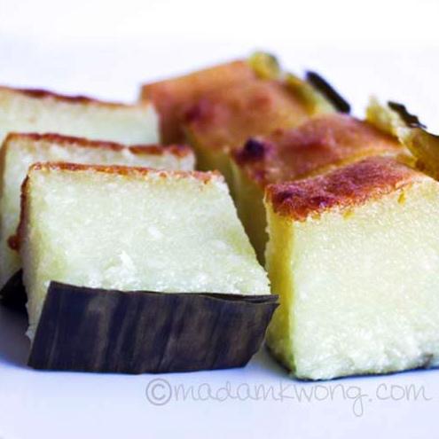Tapioca or Cassava Cake (Kuih Bengka)
