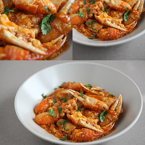 Sweet and Sour Crab Claws - crab claws, ketchup, chili sauce, egg, ginger, garlic, cilantro. | rasamalaysia.com