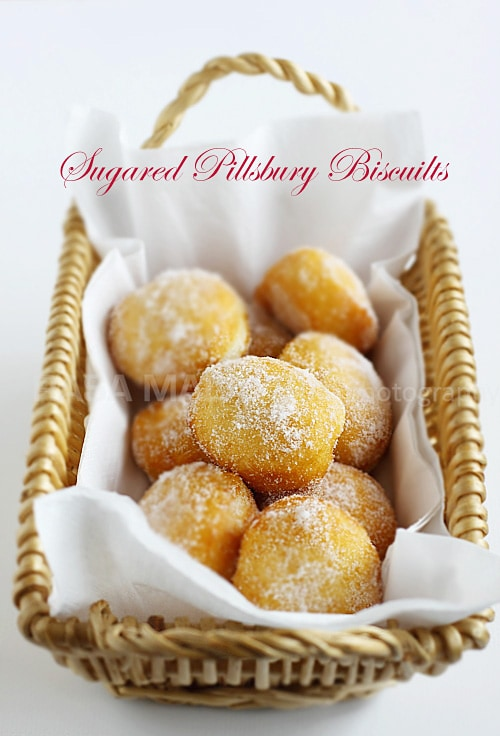 Sugared Pillsbury Biscuits (Cheater Donuts) | Easy Delicious Recipes