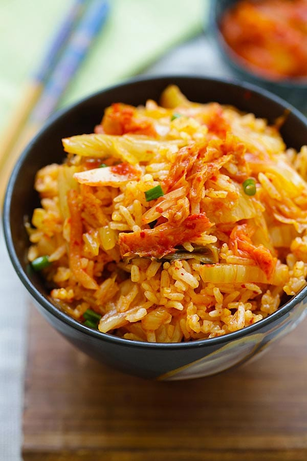 Kimchi fried rice recipe ready in 15 minutes rasa malaysia easy fried rice from kimchi ccuart Image collections