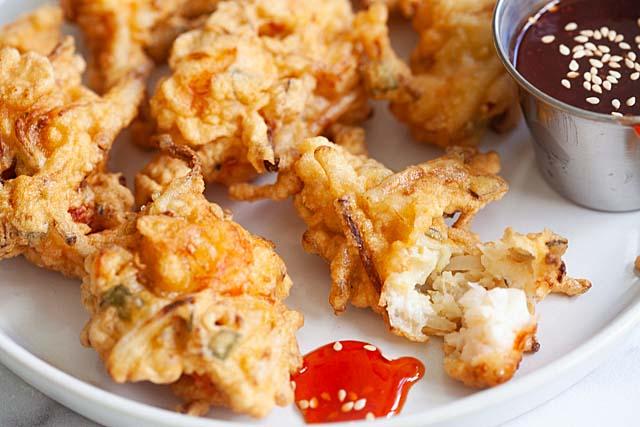 Malaysian shrimp fritters
