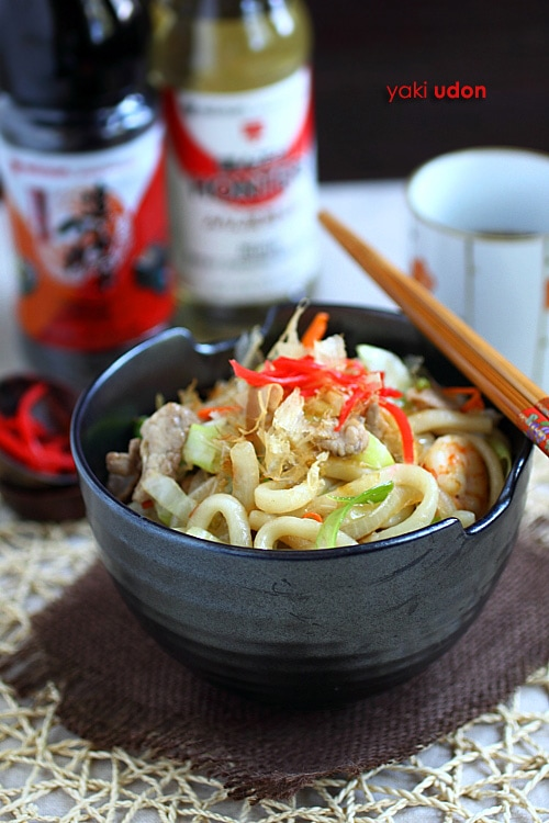 Udon noodles are popular Japanese noodles and widely eaten