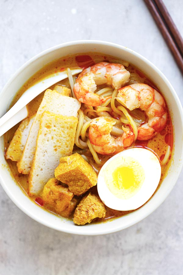 Laksa easy delicious recipes rasa malaysia laksa spicy street food noodle dish popular in malaysia and singapore this homemade curry forumfinder Gallery