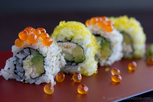 California roll is a popular sushi roll in the United States. California roll was invented in California. Step-by-step easy California roll recipe. | rasamalaysia.com