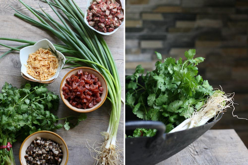 Herbs and ingredients.
