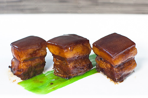 Easy red-cooked braised pork belly.