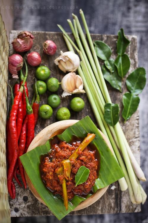Balinese Chicken (Ayam Pelalah) sambal marinade.