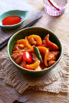 Malaysian Mango Chicken recipe - It is an appetizing dish that will satisfy your tastebuds when you are in mood for something light and tangy. | rasamalaysia.com