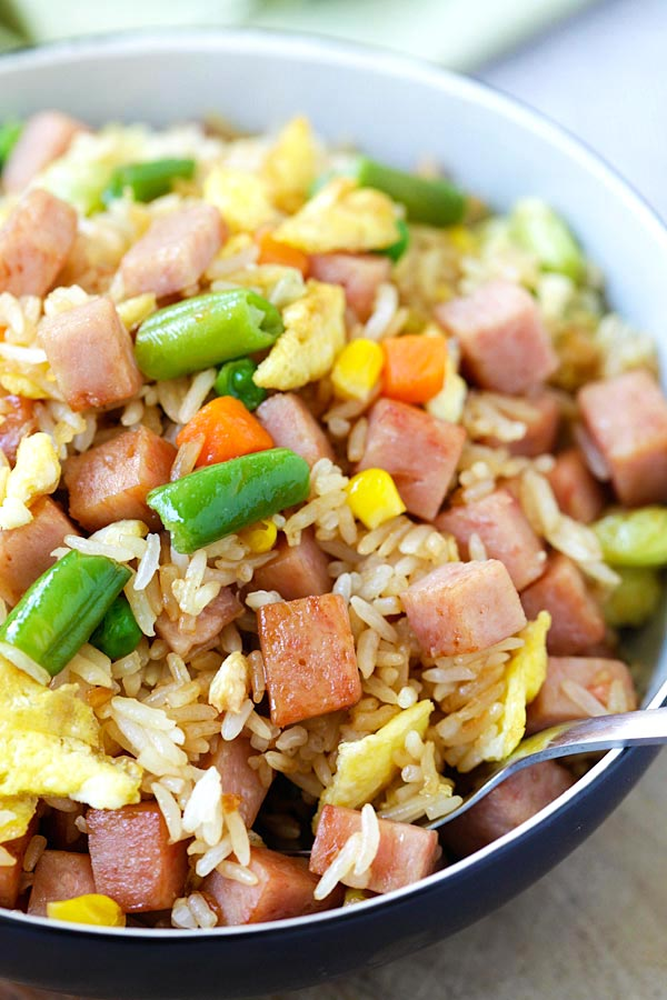 Spam fried rice easy delicious recipes rasa malaysia spam fried rice is fried rice made with spam easy spam fried rice recipe that ccuart Images