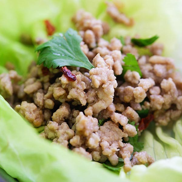 Pork Larb Lettuce Wrap - healthy and delicious Thai ground pork ...