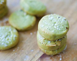 Matcha Cookies with Almond