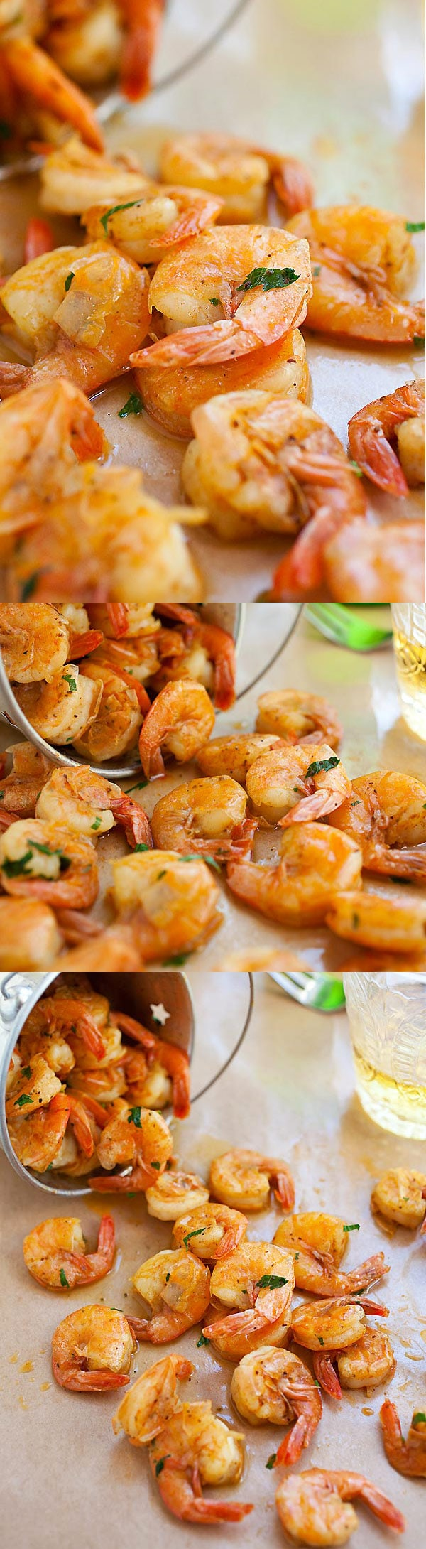 Peel and Eat Shrimp - the easiest shrimp recipe made with butter, beer and spices. Takes 10 mins to make and a staple for summertime | rasamalaysia.com