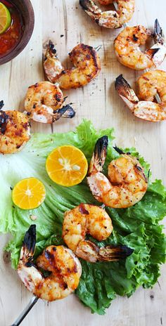 Lemongrass grilled shrimp – delicious grilled shrimp with exotic lemongrass flavors, quick and easy recipe | rasamalaysia.com
