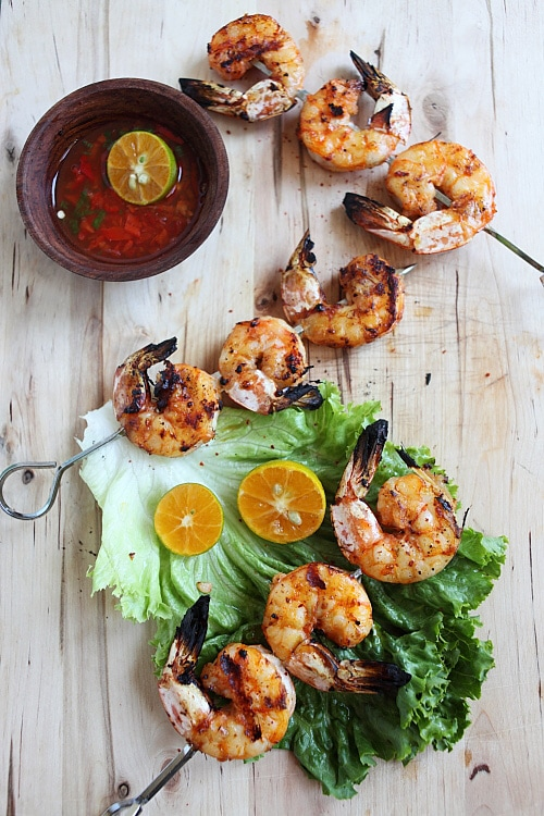 Lemongrass and Sriracha Grilled Shrimp | Easy Delicious ...