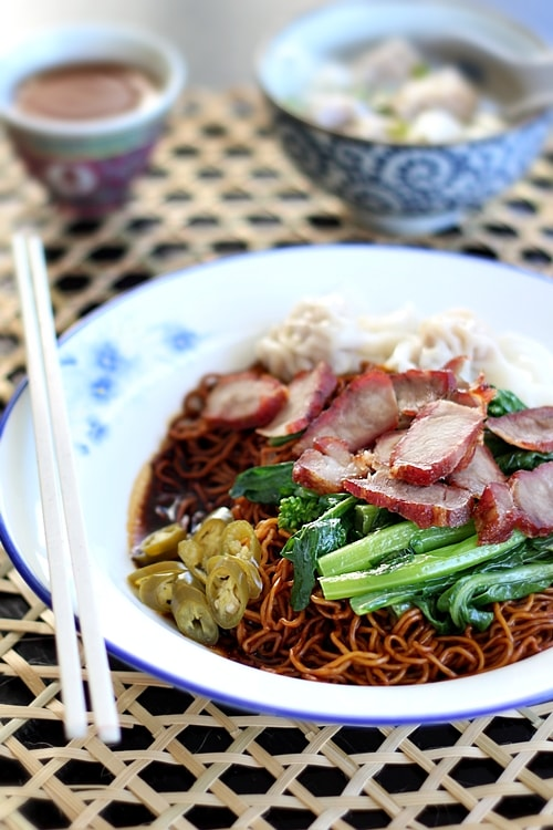 Wonton Noodles (Malaysian Wantan Mee) - this is what Anthony Bourdain tasted in Penang! Now you can make it too! | rasamalaysia.com